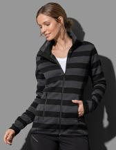 Active Striped Fleece Jacket for women